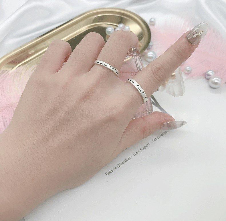 Nhẫn đôi bạc Pixel LILI_479512-07