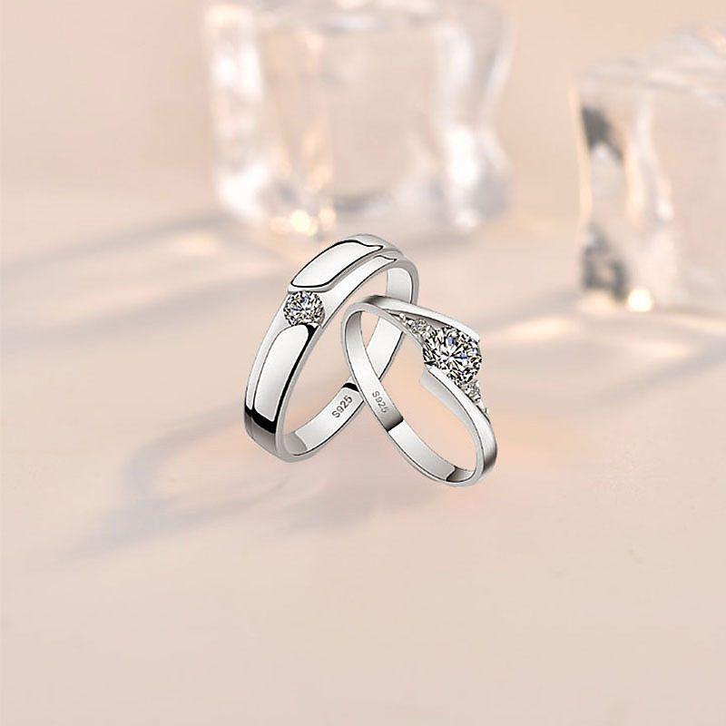 Nhẫn đôi bạc mạ bạc kim đính đá Zircon LILI_659937-02