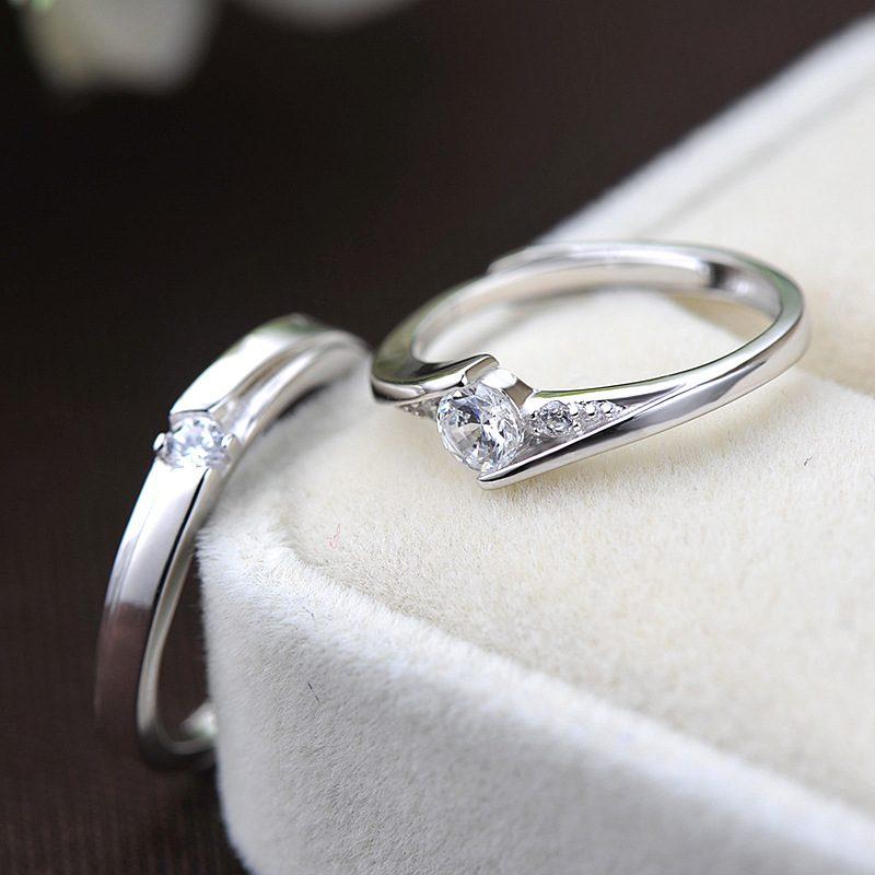Nhẫn đôi bạc mạ bạc kim đính đá Zircon LILI_659937-03