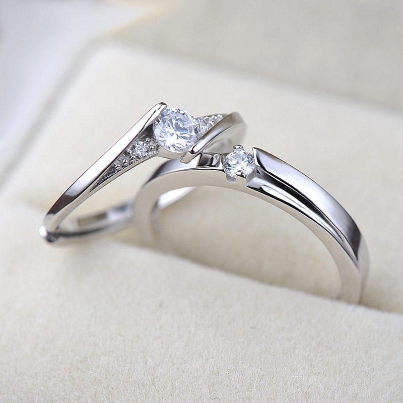 Nhẫn đôi bạc mạ bạc kim đính đá Zircon LILI_659937-05