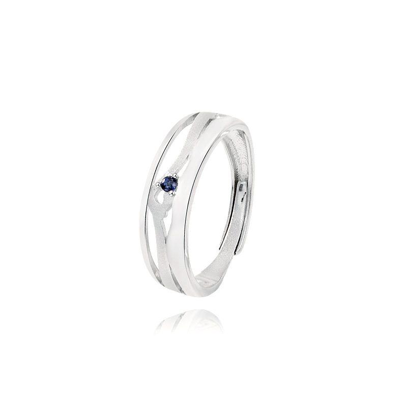 Nhẫn đôi bạc mạ bạch kim In Heaven LILI_314287-02