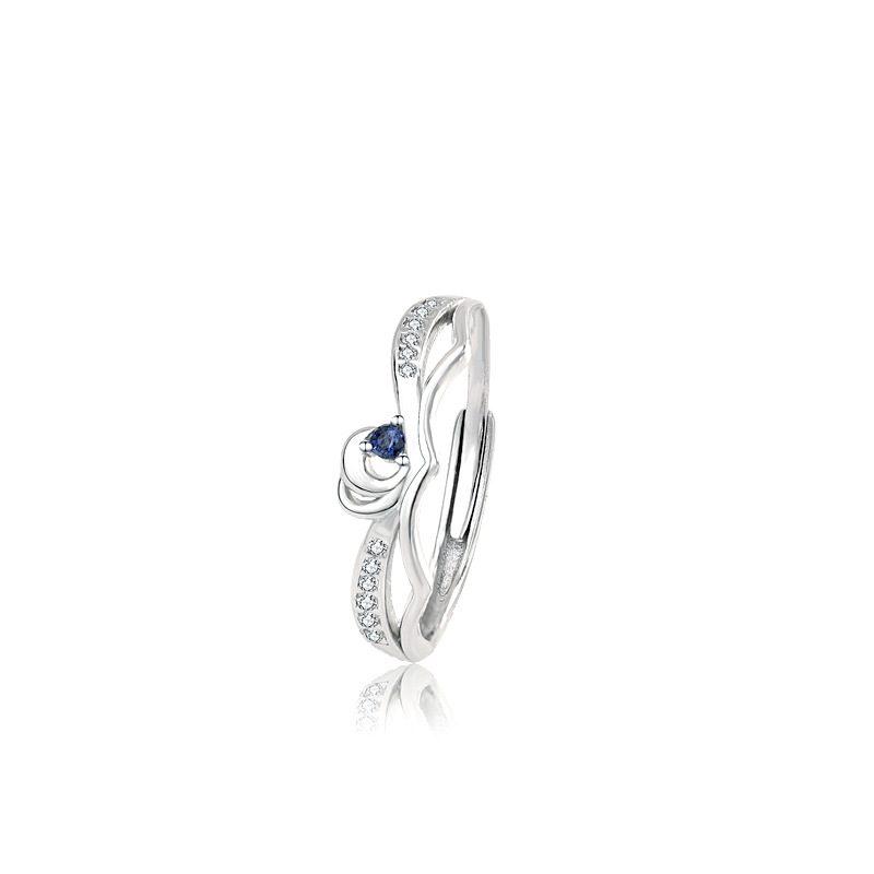 Nhẫn đôi bạc mạ bạch kim In Heaven LILI_314287-04