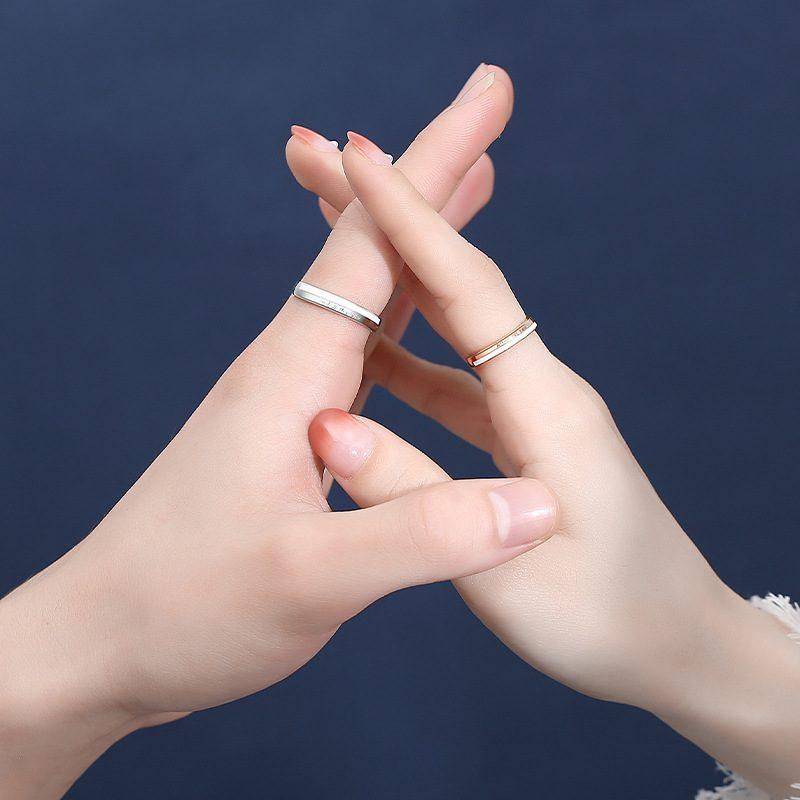 Nhẫn đôi bạc mạ bạch kim King And Queen LILI_144641-02