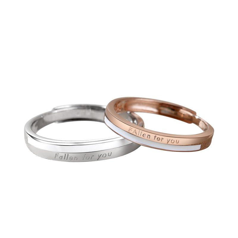 Nhẫn đôi bạc mạ bạch kim King And Queen LILI_144641-05