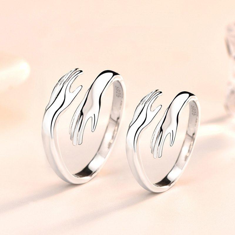 Nhẫn đôi bạc mạ bạch kim Miss U LILI_664634-01