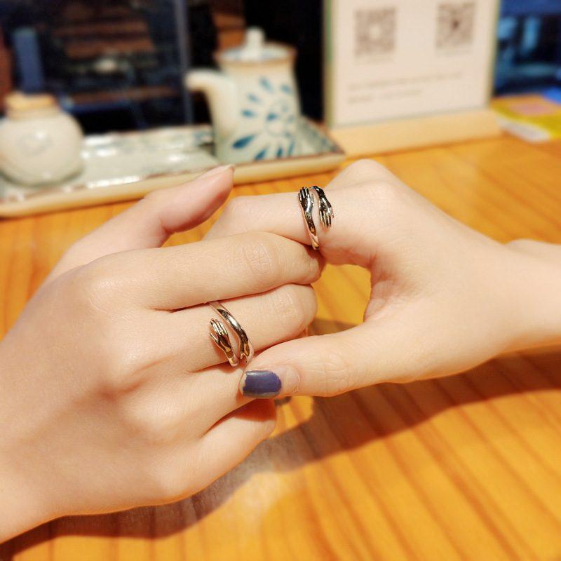 Nhẫn đôi bạc mạ bạch kim Miss U LILI_664634-02