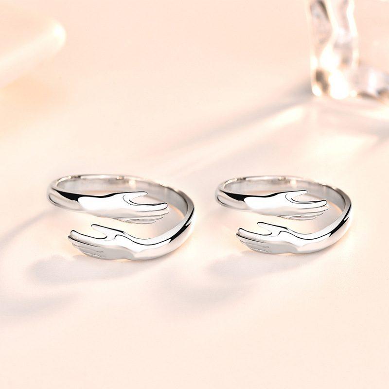 Nhẫn đôi bạc mạ bạch kim Miss U LILI_664634-03