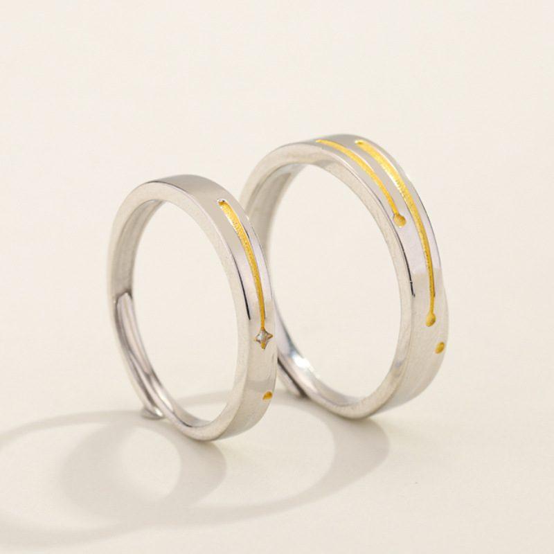 Nhẫn đôi bạc mạ bạch kim Steel Heart LILI_137232-08