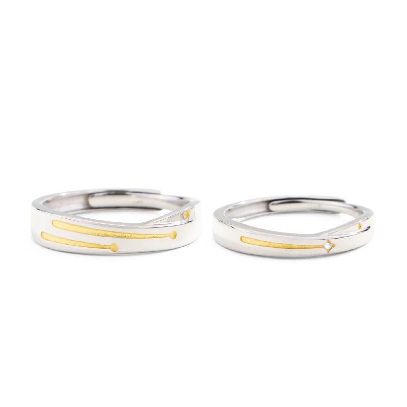 Nhẫn đôi bạc mạ bạch kim Steel Heart LILI_137232-10