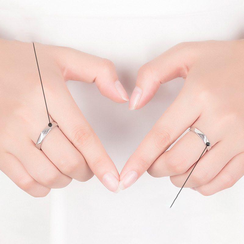 Nhẫn đôi bạc mạ vàng Amour LILI_196429-03