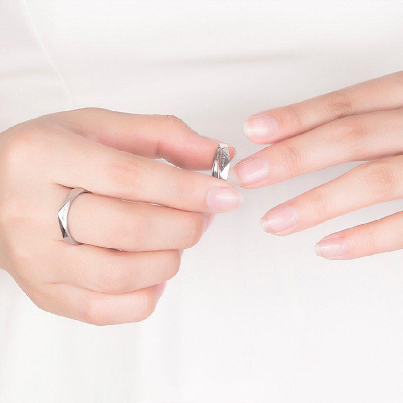 Nhẫn đôi bạc mạ vàng Amour LILI_196429-05