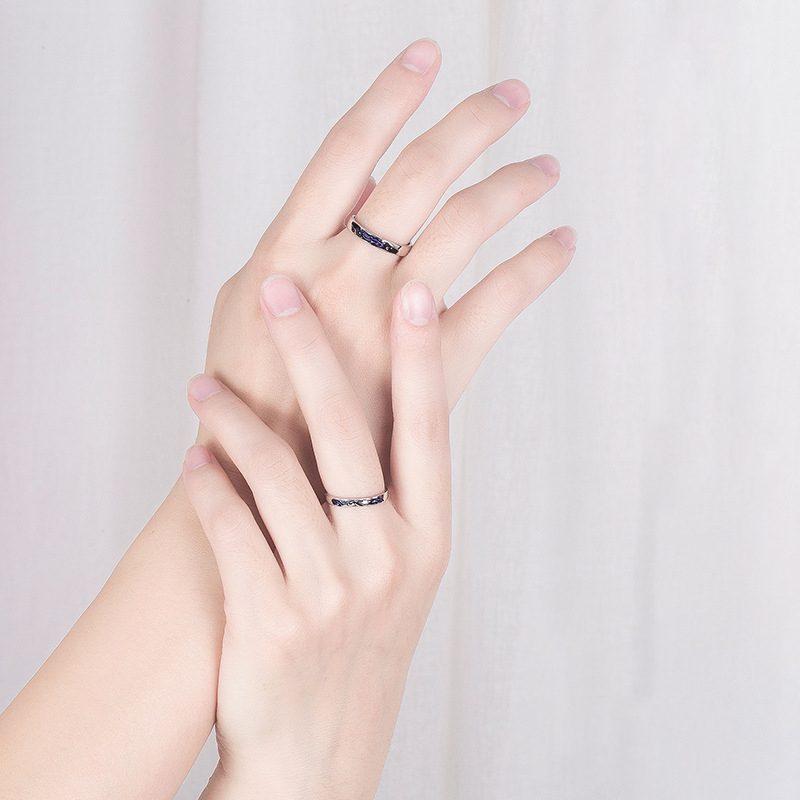 Nhẫn đôi bạc mạ vàng Cá Heo Xanh LILI_889448-04