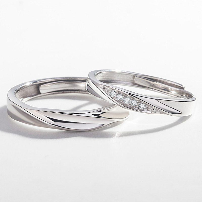 Nhẫn đôi bạc mạ vàng Couple Ciu LILI_811557-01