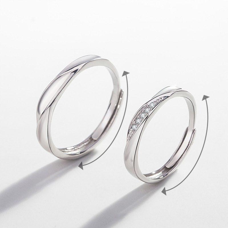 Nhẫn đôi bạc mạ vàng Couple Ciu LILI_811557-02