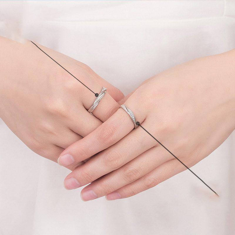 Nhẫn đôi bạc mạ vàng Couple Ciu LILI_811557-03