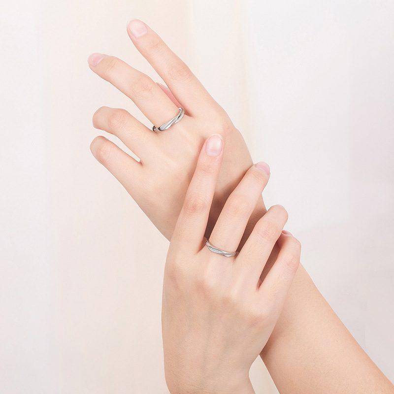 Nhẫn đôi bạc mạ vàng Couple Ciu LILI_811557-04