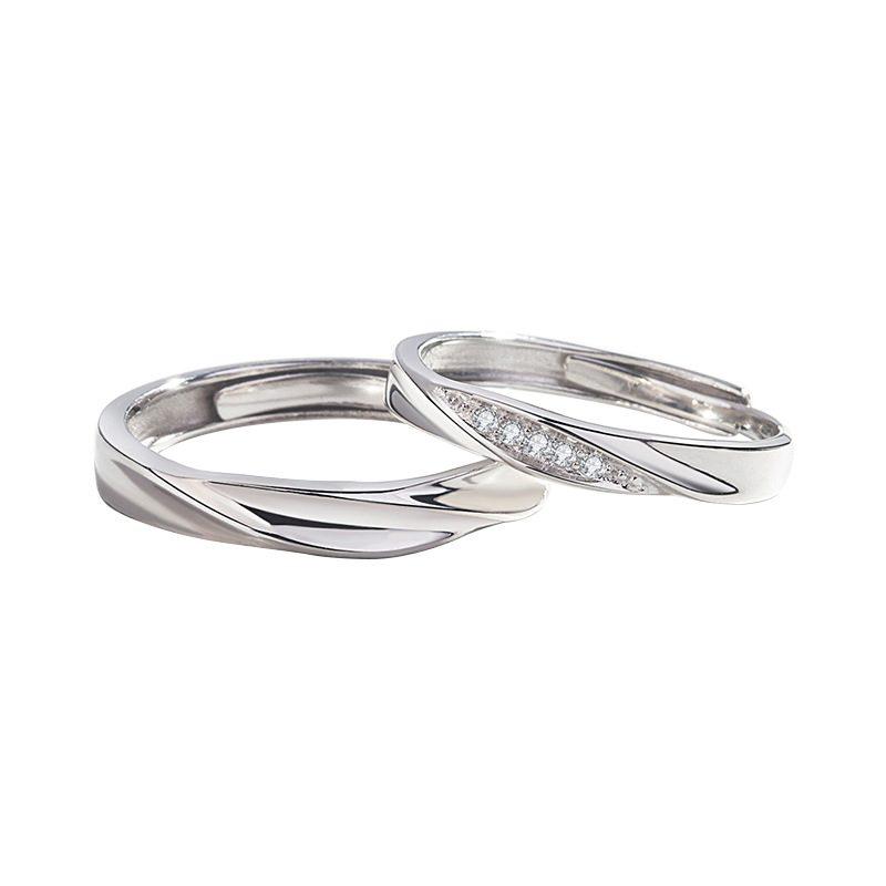 Nhẫn đôi bạc mạ vàng Couple Ciu LILI_811557-05