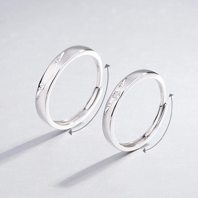 Nhẫn đôi bạc mạ vàng Infinity LILI_262338-01