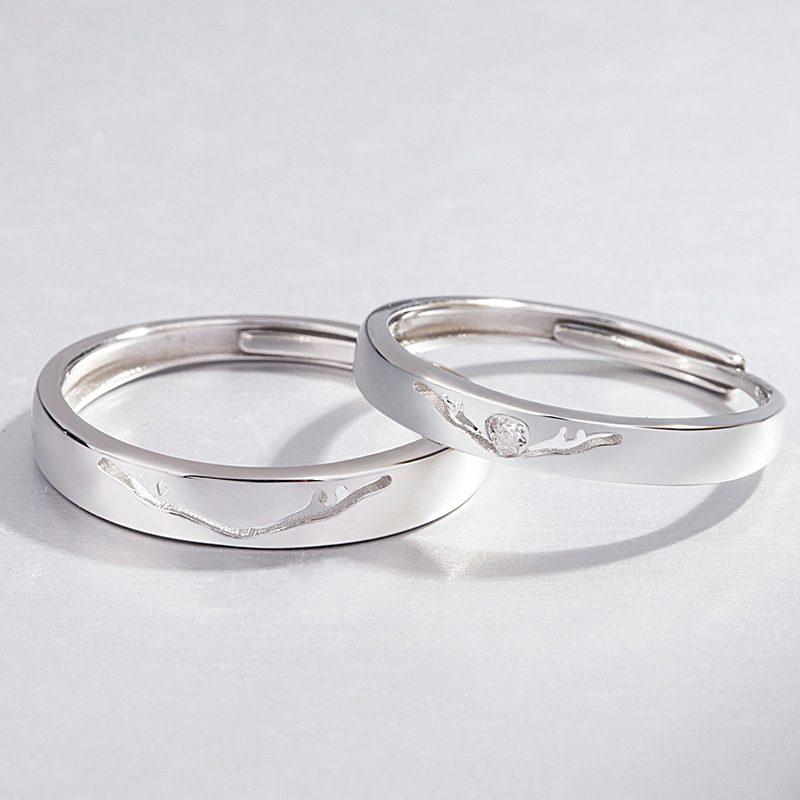Nhẫn đôi bạc mạ vàng Infinity LILI_262338-02