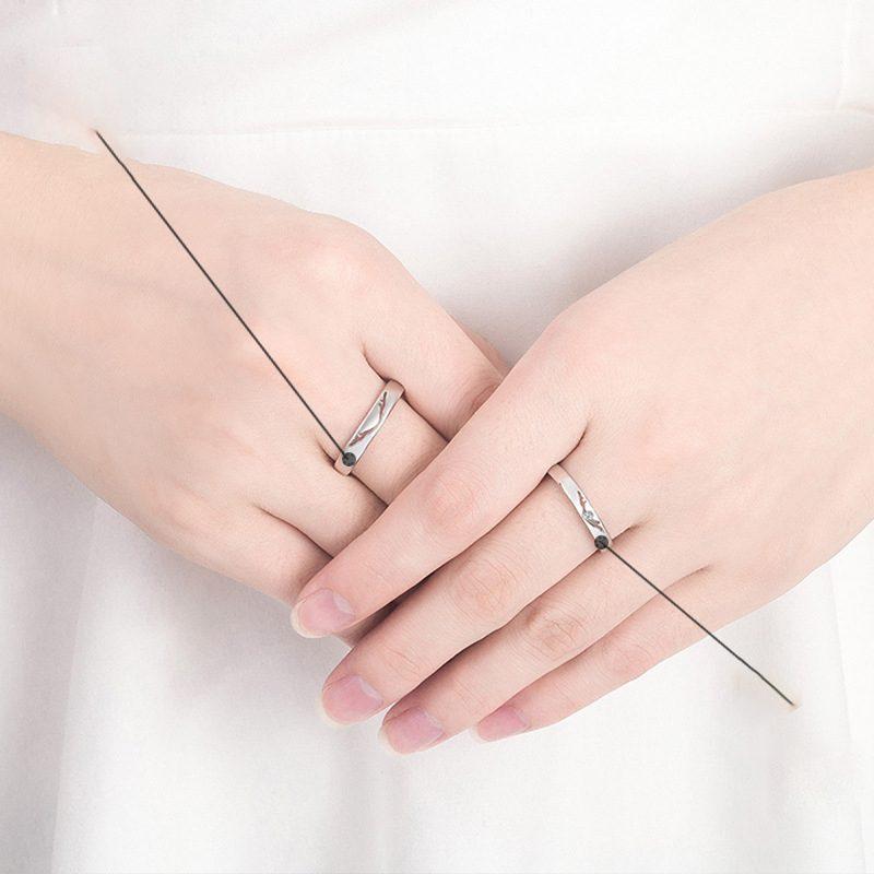 Nhẫn đôi bạc mạ vàng Infinity LILI_262338-03