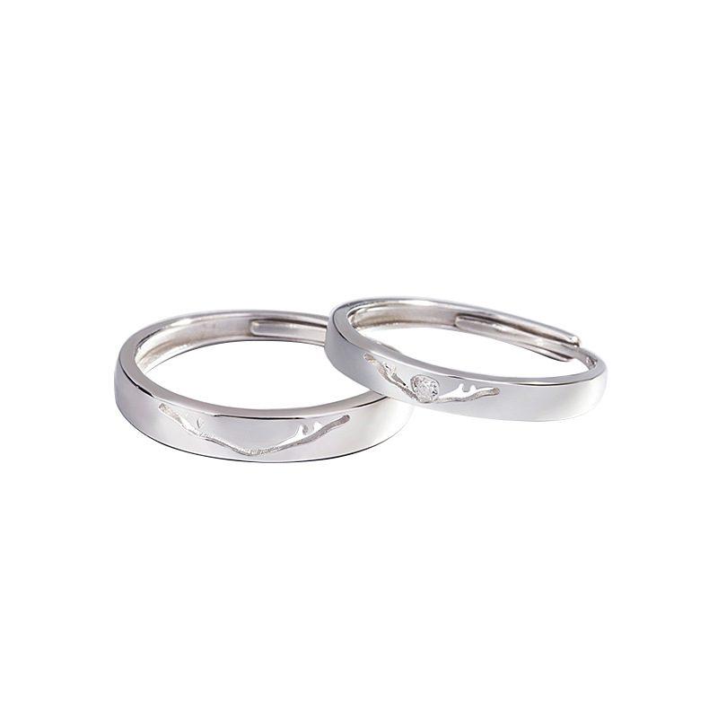 Nhẫn đôi bạc mạ vàng Infinity LILI_262338-04
