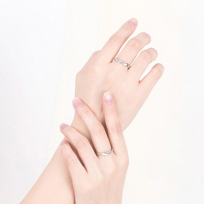 Nhẫn đôi bạc mạ vàng Infinity LILI_262338-05