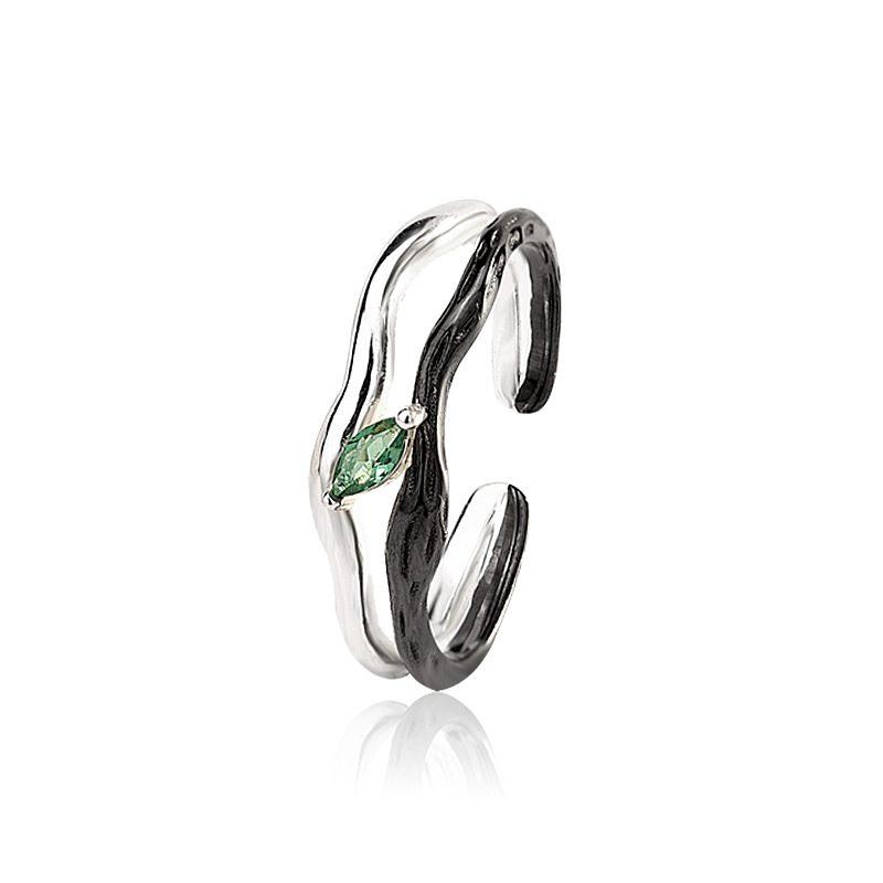 Nhẫn đôi bạc mạ vàng Spring LILI_194646-03