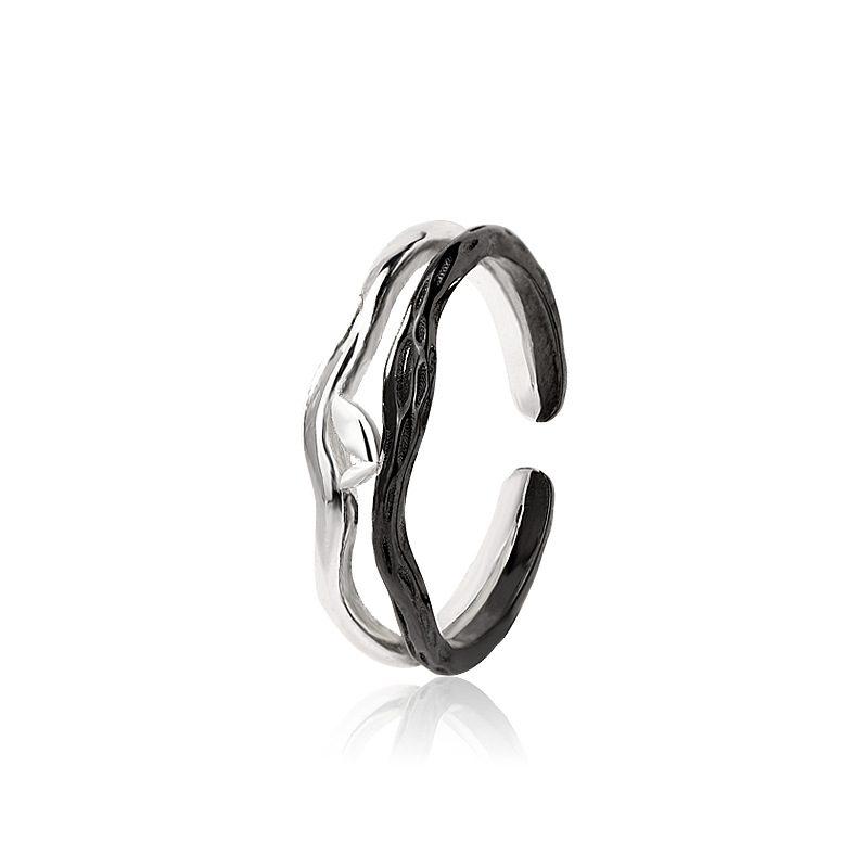 Nhẫn đôi bạc mạ vàng Spring LILI_194646-04