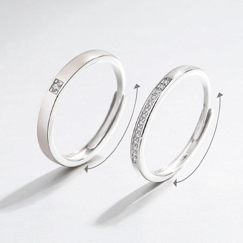 Nhẫn đôi bạc mạ vàng đính đá Zircon I Miss U LILI_777874-02