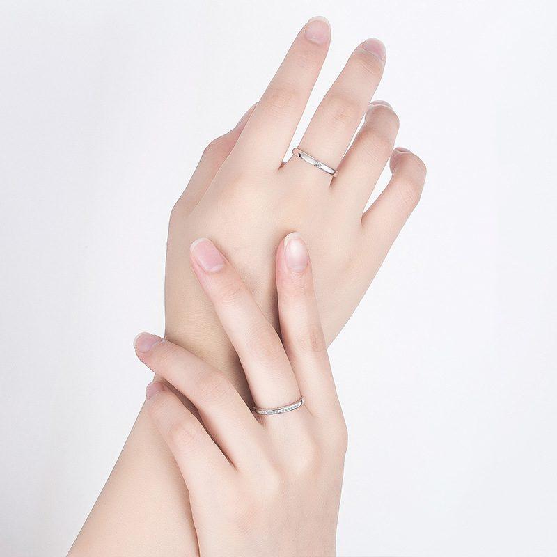 Nhẫn đôi bạc mạ vàng đính đá Zircon I Miss U LILI_777874-04