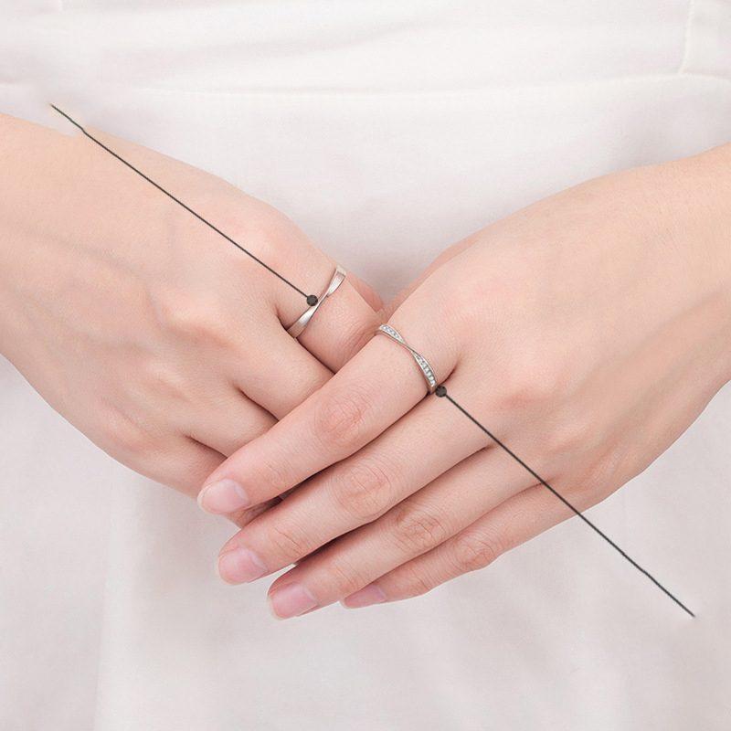 Nhẫn đôi bạc mạ vàng đính đá Zircon LOVE LILI_163118-02