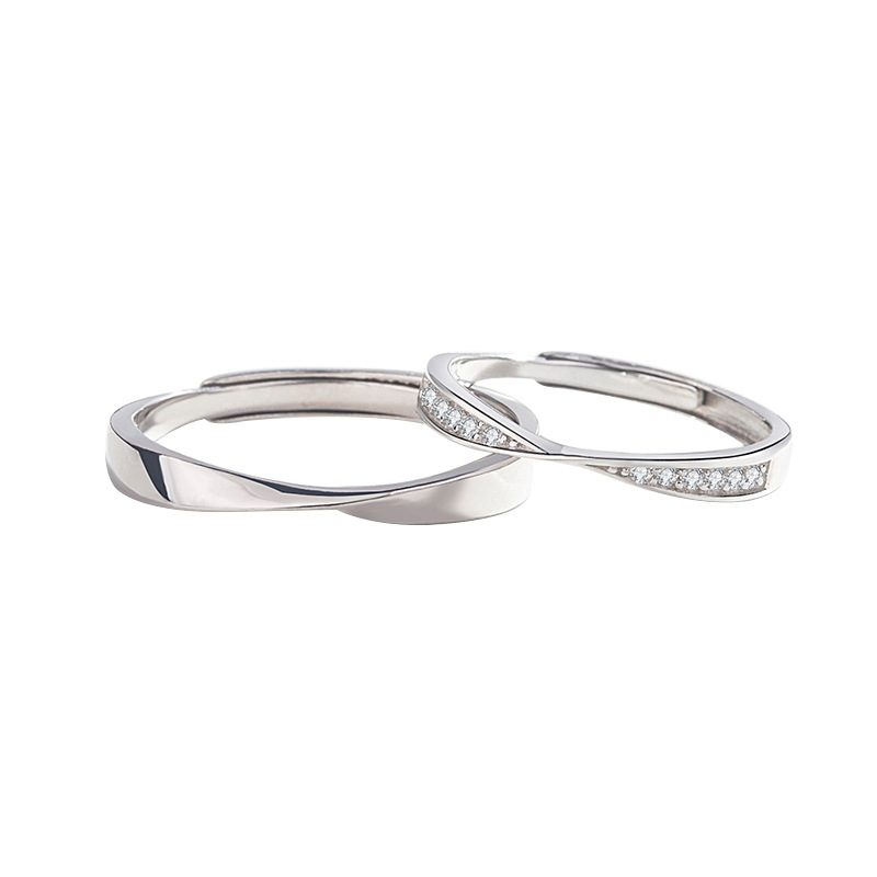 Nhẫn đôi bạc mạ vàng đính đá Zircon LOVE LILI_163118-05