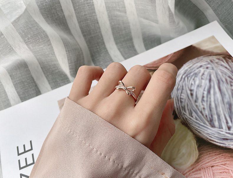 Nhẫn đôi bạc mạ vàng đính đá Zircon The Light LILI_731676-09