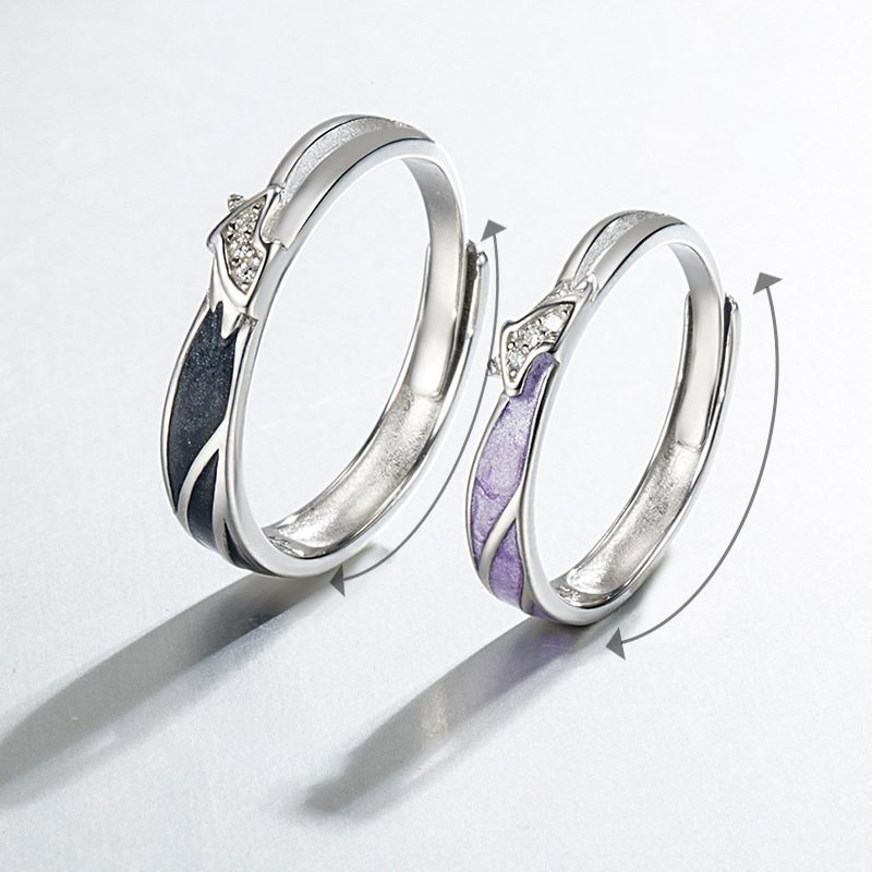 Nhẫn đôi bạc mạ vàng hình Kỳ Lân LILI_649164-02