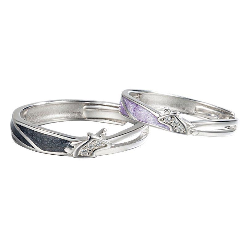 Nhẫn đôi bạc mạ vàng hình Kỳ Lân LILI_649164-05
