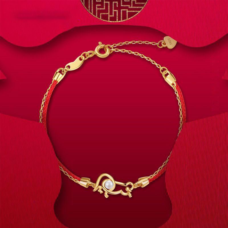 Lắc tay Vòng tay bạc mạ vàng With Love LILI_964977-01