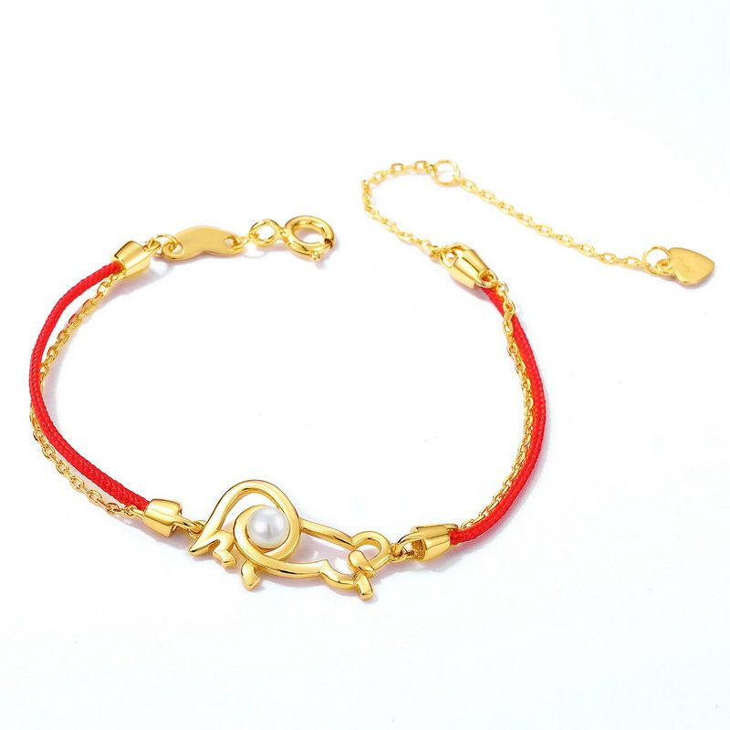Lắc tay Vòng tay bạc mạ vàng With Love LILI_964977-02