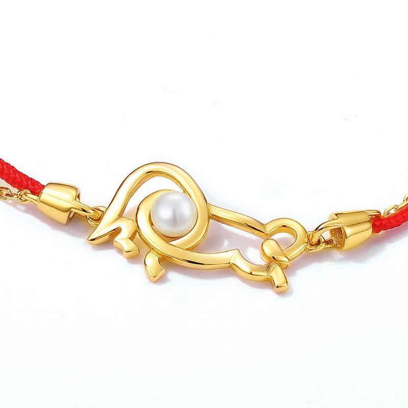 Lắc tay Vòng tay bạc mạ vàng With Love LILI_964977-03