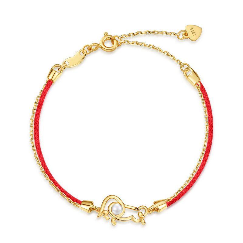 Lắc tay Vòng tay bạc mạ vàng With Love LILI_964977-05