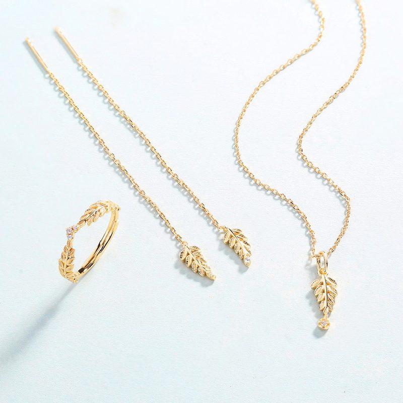 Bộ trang sức bạc mạ vàng Cây ô liu LILI_561446-09
