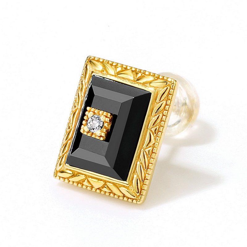 Bộ trang sức bạc mạ vàng đính đá Mã Não Zircon LILI_712978-03
