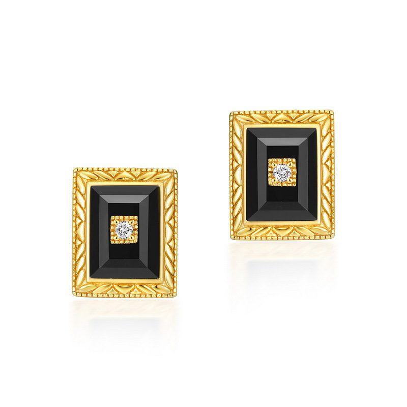 Bộ trang sức bạc mạ vàng đính đá Mã Não Zircon LILI_712978-05