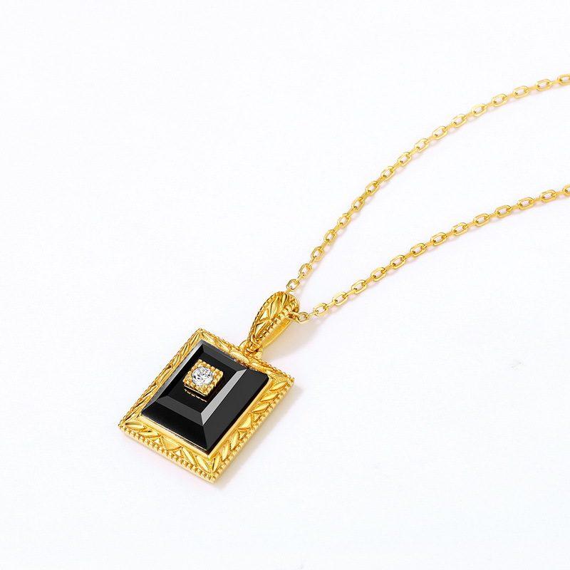 Bộ trang sức bạc mạ vàng đính đá Mã Não Zircon LILI_712978-06