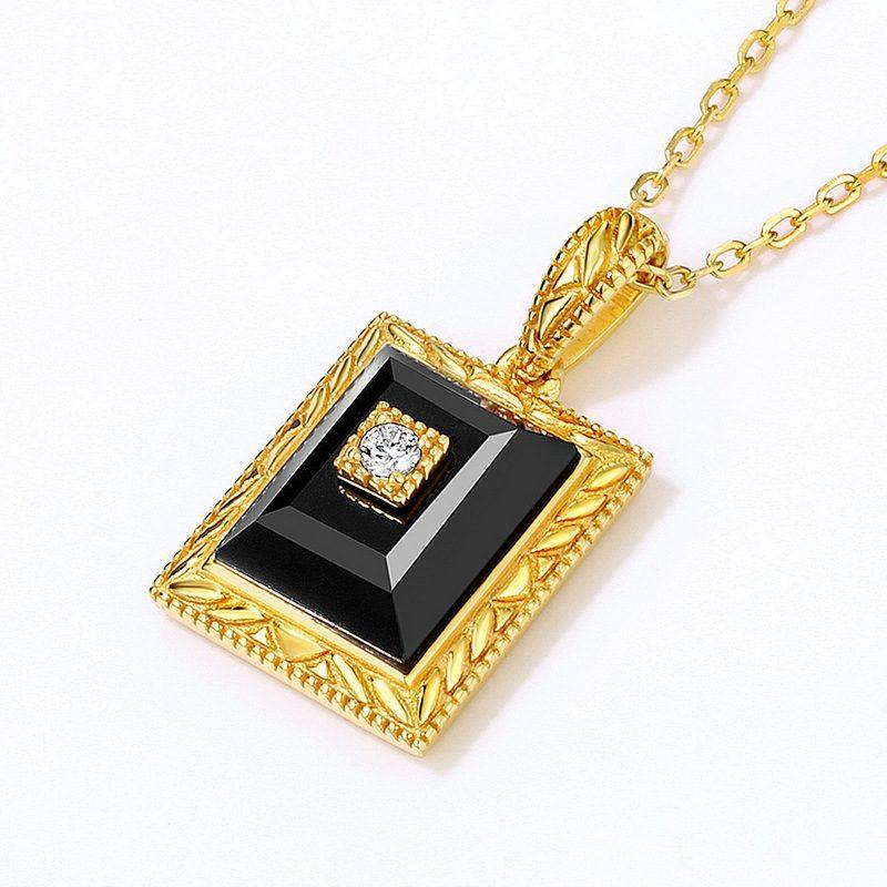 Bộ trang sức bạc mạ vàng đính đá Mã Não Zircon LILI_712978-07