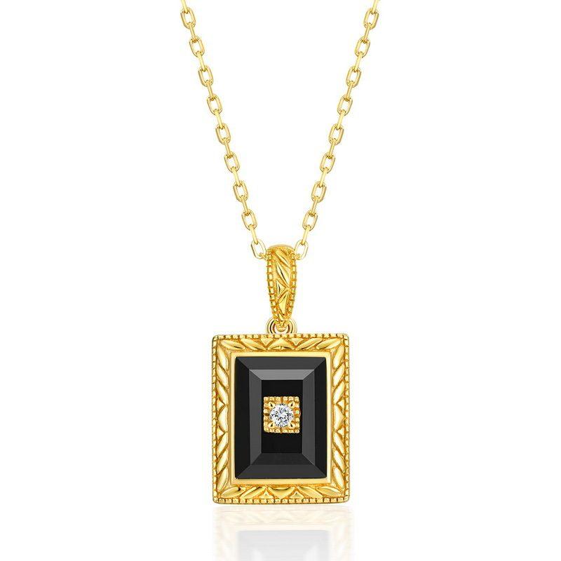 Bộ trang sức bạc mạ vàng đính đá Mã Não Zircon LILI_712978-08
