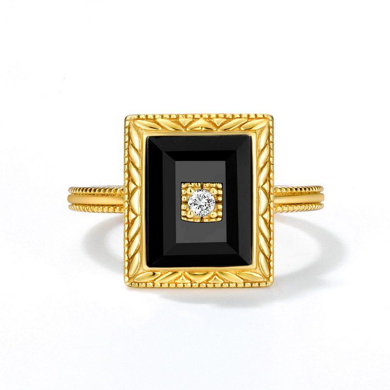 Bộ trang sức bạc mạ vàng đính đá Mã Não Zircon LILI_712978-09