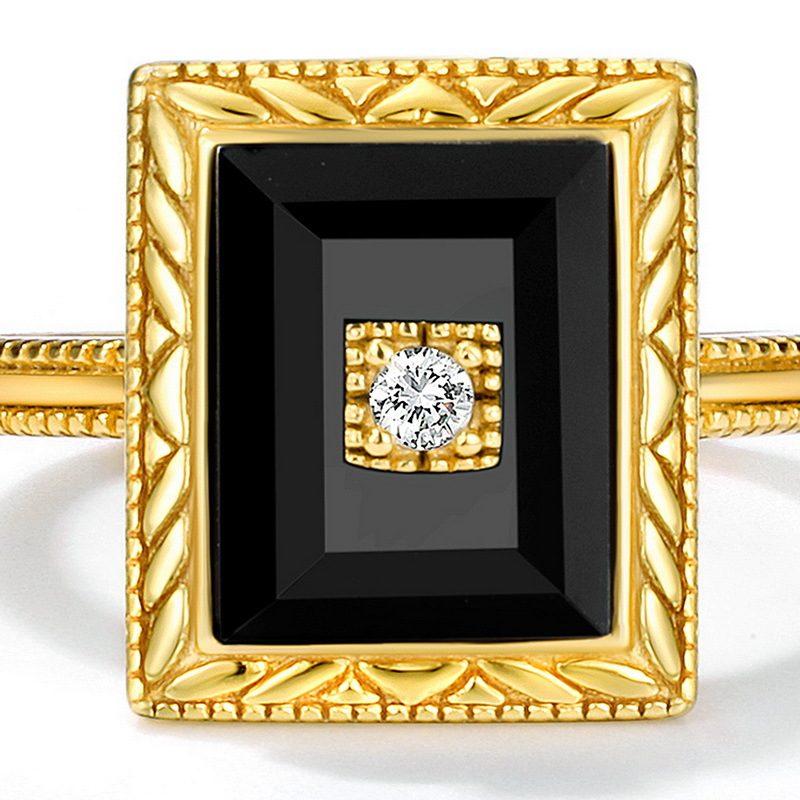 Bộ trang sức bạc mạ vàng đính đá Mã Não Zircon LILI_712978-10