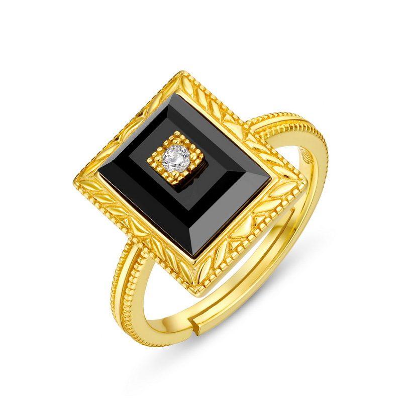 Bộ trang sức bạc mạ vàng đính đá Mã Não Zircon LILI_712978-11