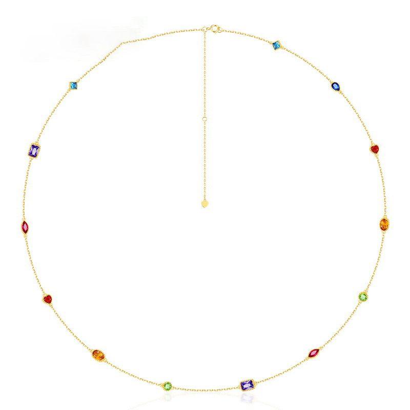 Bộ trang sức bạc mạ vàng đính đá Zircon đa sắc LILI_414773-06