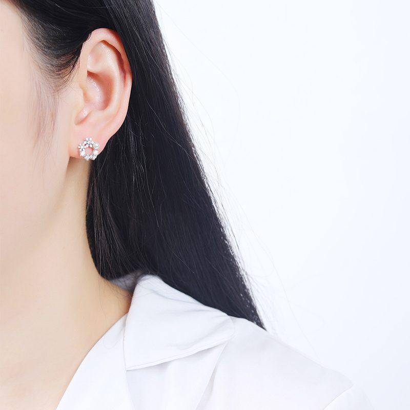 Bông Tai Bạc Hoa Cúc LILI 584334 2
